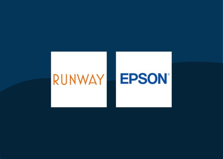 epson and runway partnership graphic